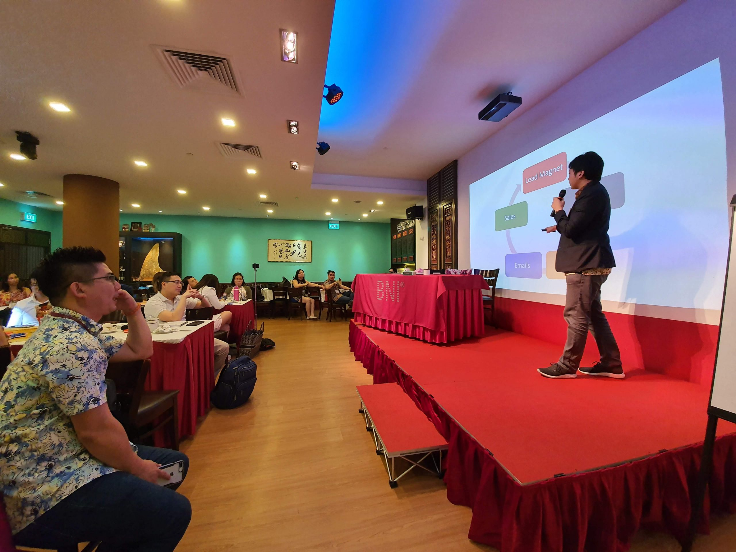 Event with Stage and Projector AV systems