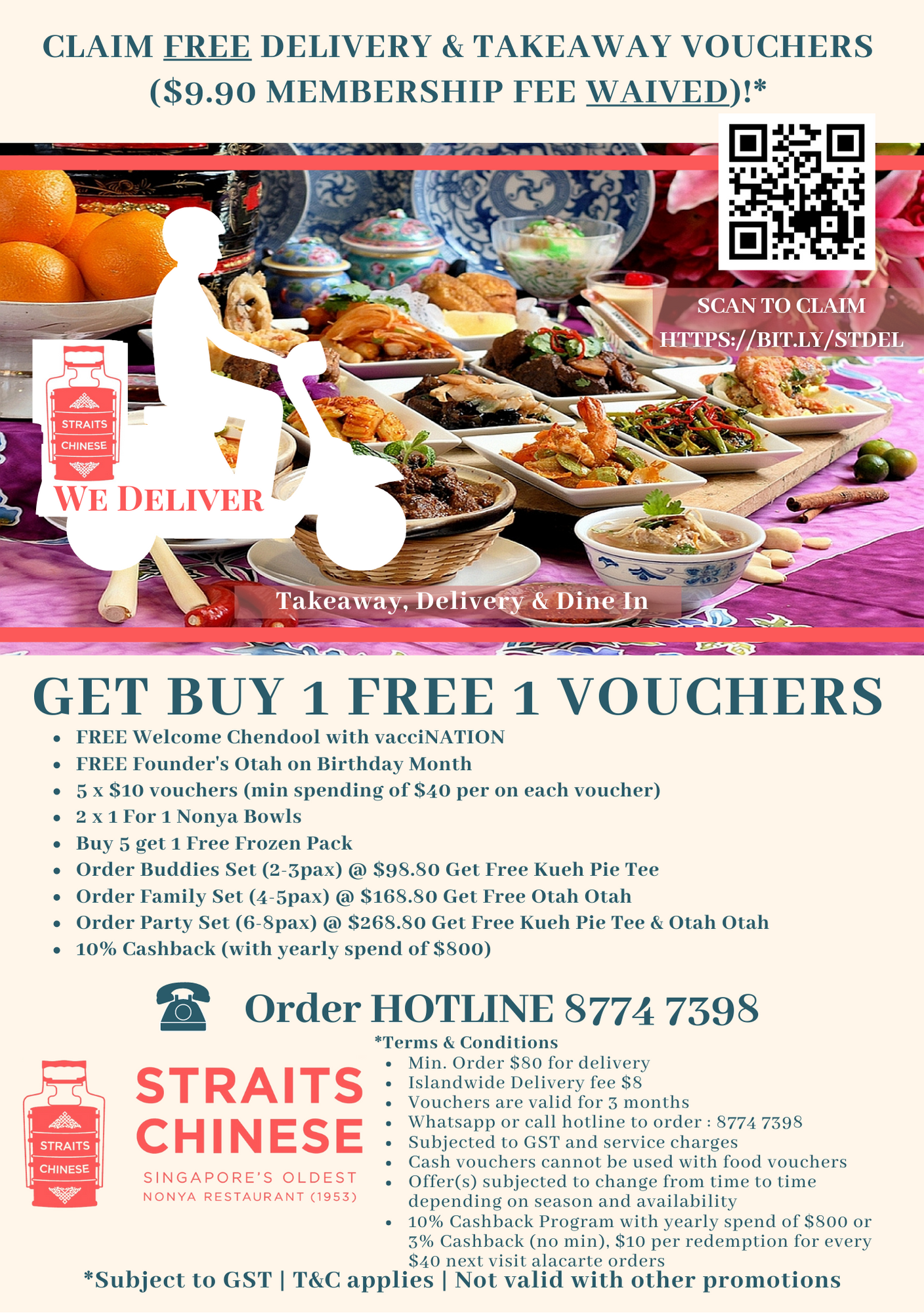 FREE TAKEAWAY DELIVERY VOUCHERS - GOLD MEMBERSHIP