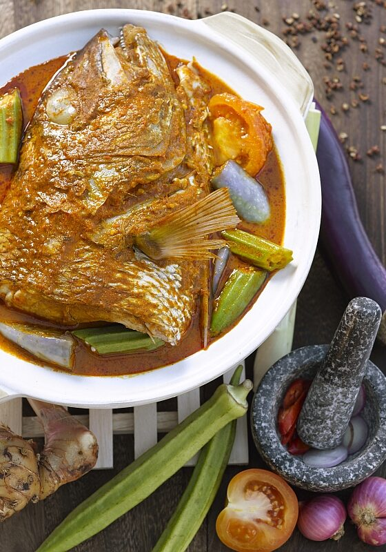 Nonya Curry Fish Head
