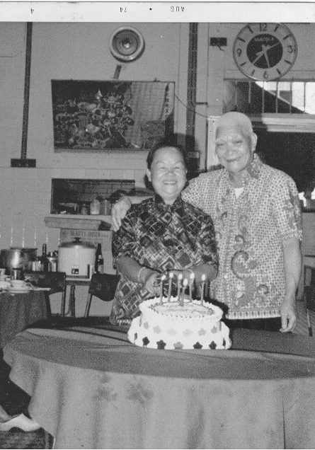 1st Gen Yap and Grandma at Old Joo Chiat shop in 1970s